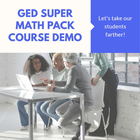 30 Minute Demo of the GED Super Math Course for Programs