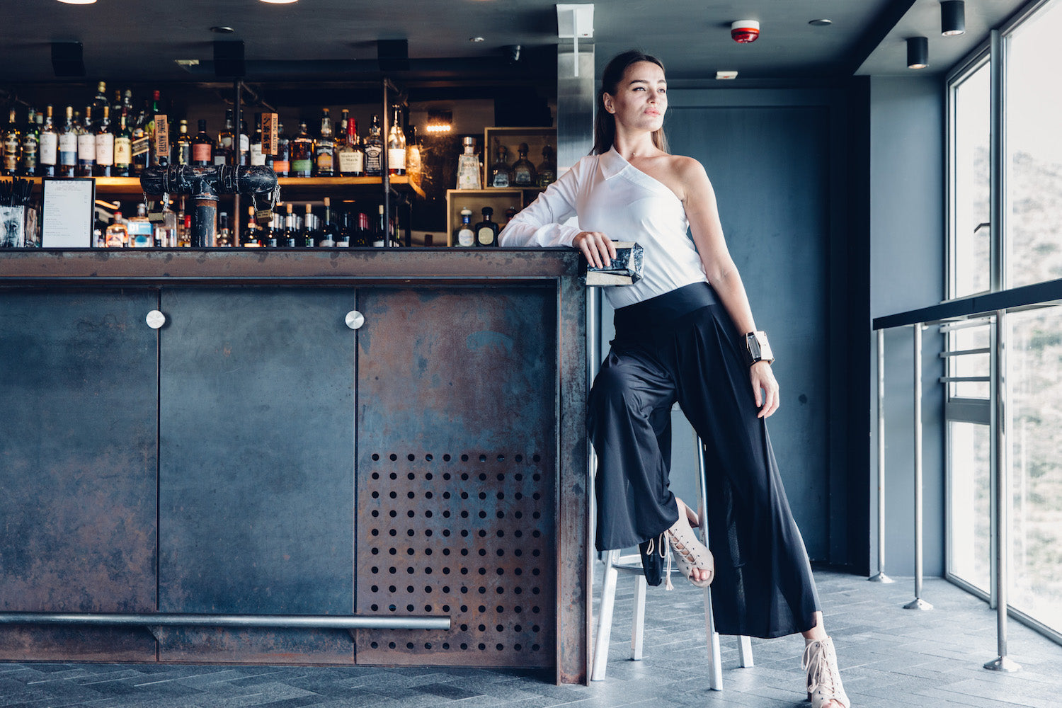 wide leg pants ABOVE bar