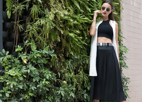 Midi skirt plant wall - Zarie Online Leggings Hong Kong