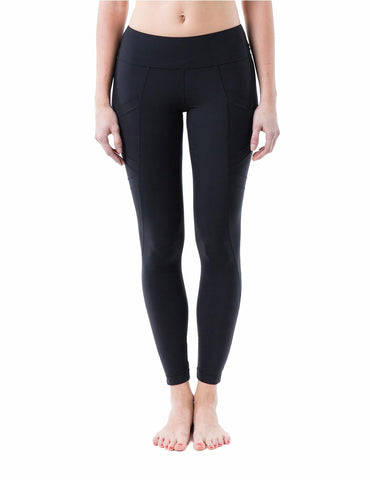 Dream black all-purpose leggings with pocket- front