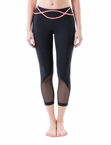 Dream capri front coral - Zarie Online Leggings Hong Kong