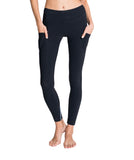 Striped Denim Leggings Front - Zarie Online Leggings Hong Kong