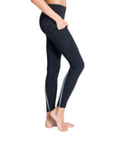 Striped Denim Leggings side - Zarie Online Leggings Hong Kong
