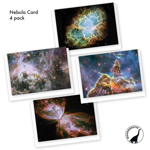 4 Pack of Nebulae Greeting Cards