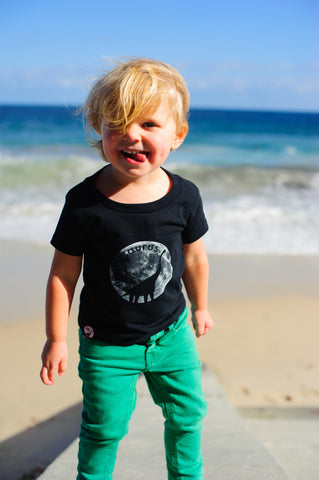 Toddler Black Moonasaurus T-Shirt