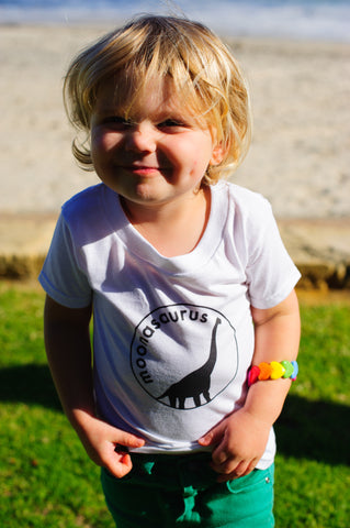 Toddler White Moonasaurus T-Shirt