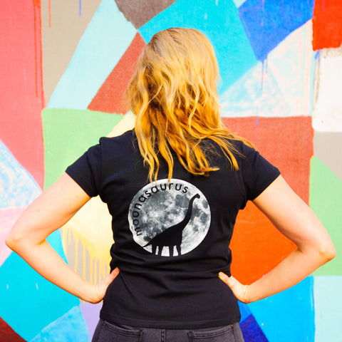 Women's Black Moonasaurus T-Shirt