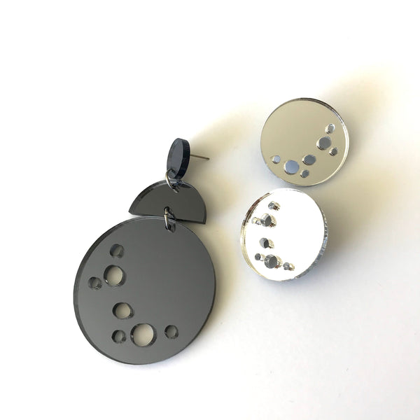 Light Side of the Moon Statement Earrings
