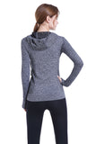 Woman Tech Hoodie Soft Snug | Hot Slimming Top Shapers, Compression Shape Wear, Workout Shirt