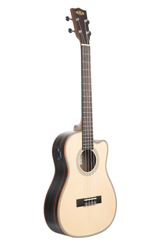 KA-SSEBY-B Kala Baritone Ukulele with Solid Spruce Top, Ebony back and sides, and Fishman KULA Pickup System. FREE Postage and FREE On-line Lesson. Ukulele Trading Co Australia Kala Brand Adelaide South Australia Ukulele for Sale