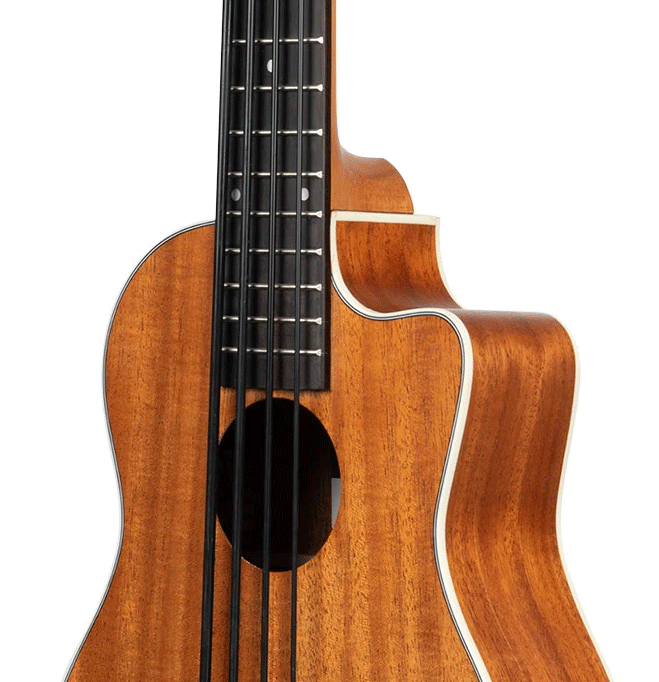 KA-UBASS-SCOUT-FS Kala UBass Electric Cutaway with Gigbag The Ukulele Trading Co Australia