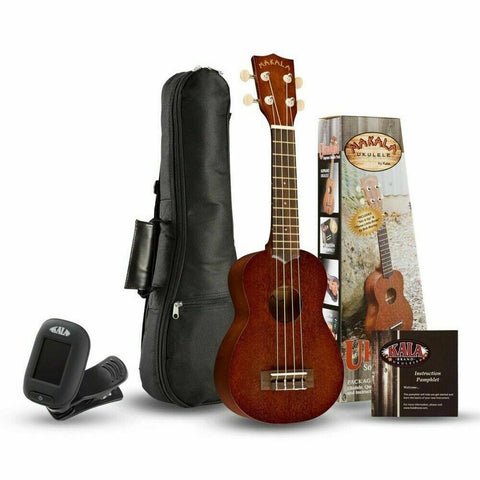 MK-S/Pack MAKALA by KALA SOPRANO PACK Includes Gig-Bag, Tuner, Free Lesson. Ukulele Trading Co Australia