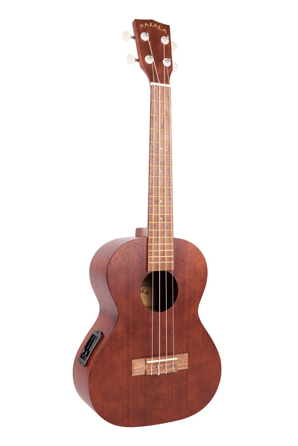 Makala MK-TE is Tenor Size Ukulele Electric.  MK-TE fitted with a pickup that actually sounds good . Ukulele Trading Co Australia