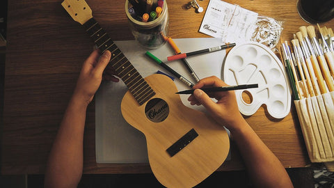 The Ohana DIY Kits come partially assembled with the fretboard and neck already glued and attached. What does this mean? It means that you don't have to worry about issues caused by misaligned necks and gluing mishaps. That way, you can still have a ukulele that you can learn and play on.