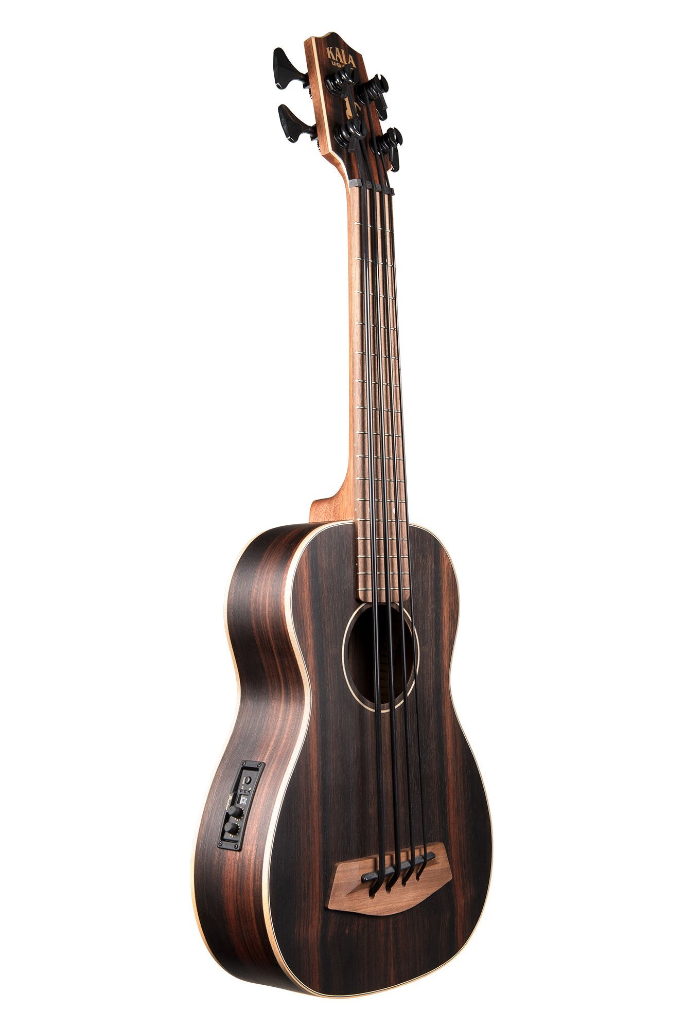 ukulele-trading-co-australia - STRIPED EBONY ACOUSTIC-ELECTRIC U•BASS® UBASS-EBY-FS - Kala - Ukuleles