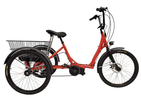 Electric Step-Through adult trike, Red color