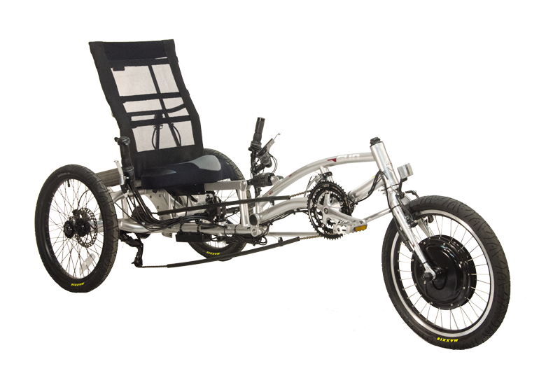 Electric EZ-3 USX HD, silver trike