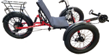 Electriic Fat-Tad recumbent trike, with full coverage fenders