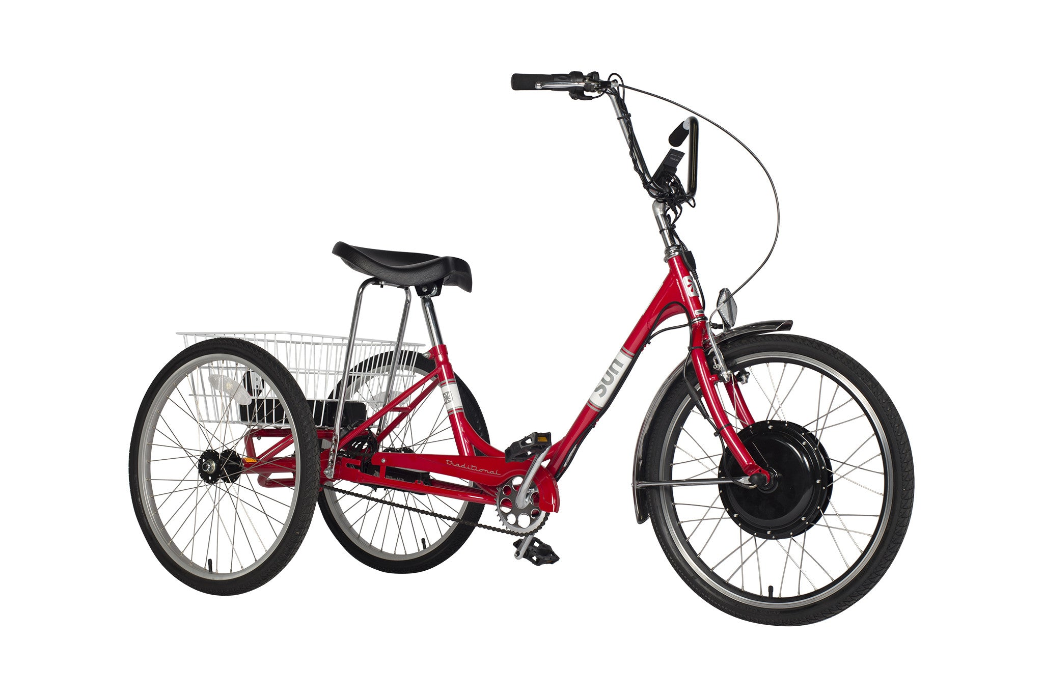 Traditional-24-Electric-Trike-Red-Metallic-1