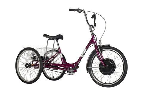 Traditional 24 Electric Trike, Violet Pearl color