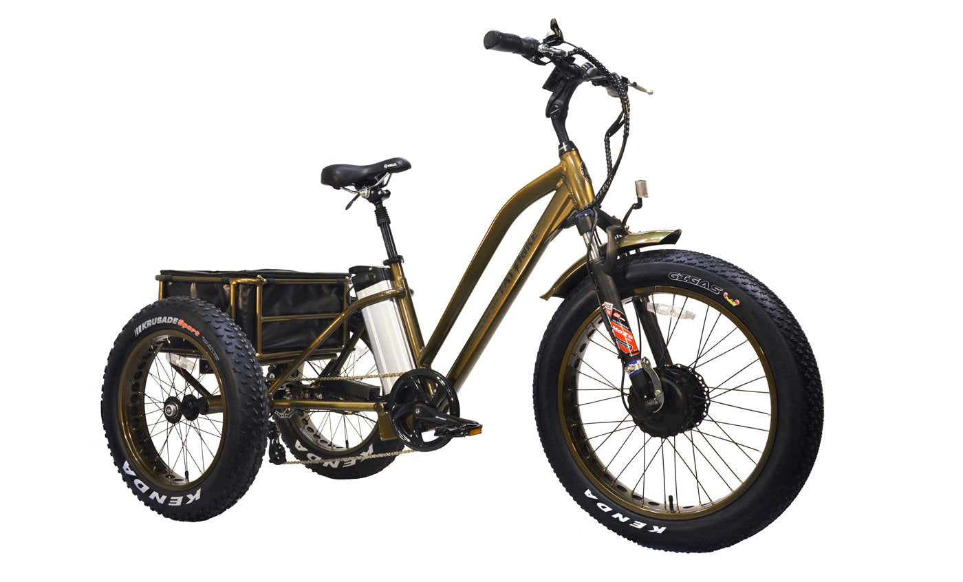 Electric Fat-Tad CXs Tadpole Trike
