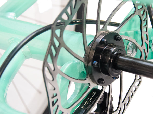 Promax 160mm rear disc brakes helps you stop