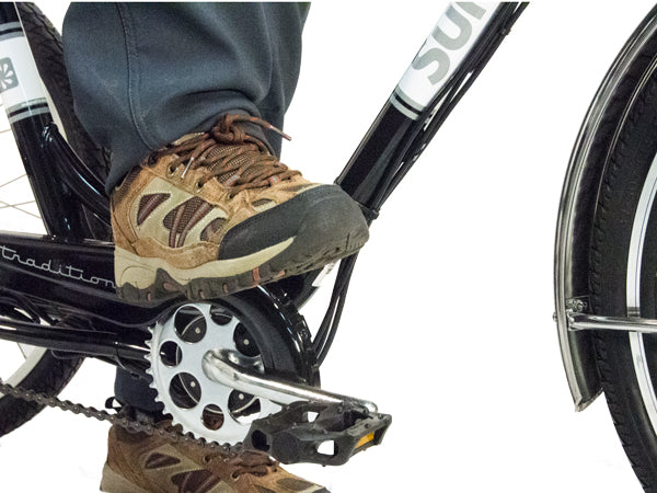 Easy step-through entry or to get off your trike