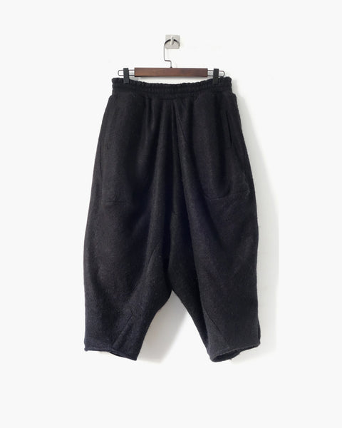 ROSEN Arjang Trousers in Charcoal Black Wool