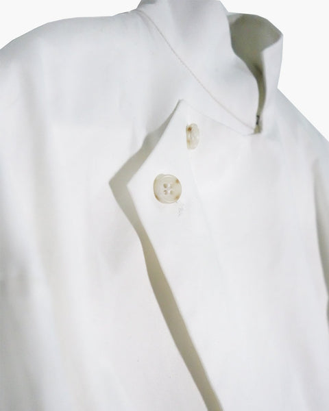 ROSEN Bronte Shirt in White Cotton Twill