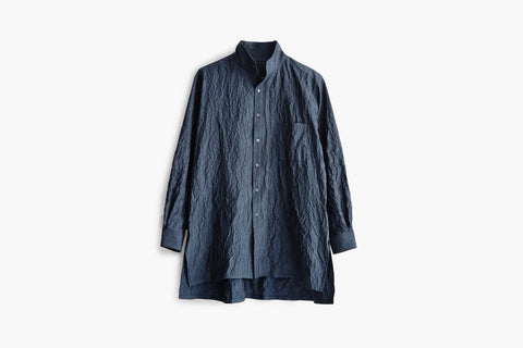 ROSEN Planck Shirt in Crinkled Cotton