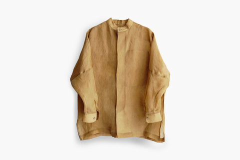 ROSEN Epicurean Shirt in Ochre Silk