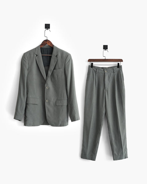 ROSEN-S Professional Suit - Grey Silk Linen