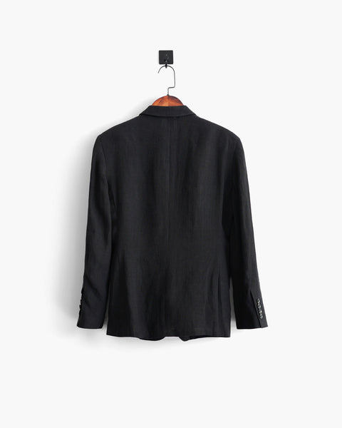 ROSEN-S Daily Suit Jacket - Black Linen