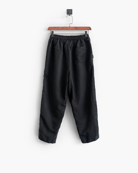 ROSEN-S Leisure Trousers - Black Silk Linen
