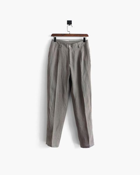 ROSEN-S Daily Suit Trousers - Taupe Grey Linen