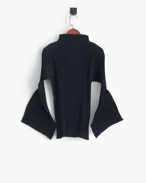 Issey Miyake Sculptural Sleeve Blouse Sz L