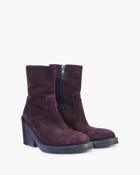 Ann Demeulemeester FW2012 Suede Ankle Boots Sz 38