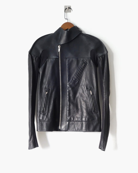 Rick Owens FW2011 Runway Leather Biker Jacket Sz 40