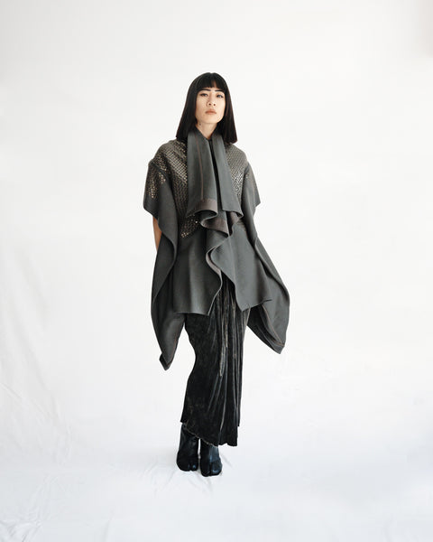 Rick Owens FW2015 Sphinx Sequin Coat IT 40