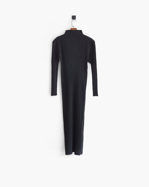 Issey Miyake Pleats Please Turtleneck Maxi Dress Sz 4