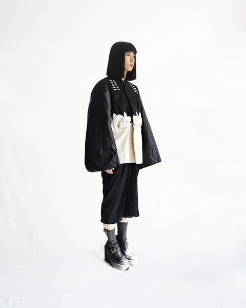 Rick Owens FW2013 Knotted Calfskin Coat IT 40