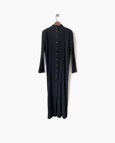Issey Miyake FETE Pleated Button-Down Dress Sz 2