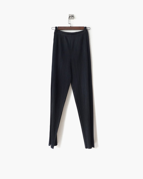 Issey Miyake Pleated Straight-Leg Trousers Sz M