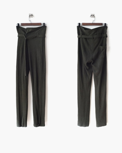 Ann Demeulemeester Belted Trousers Sz XS