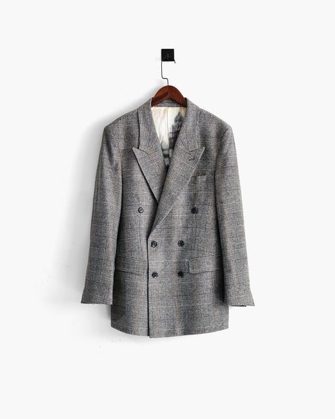 ROSEN Celliers Blazer in Prince of Wales Check Italian Wool