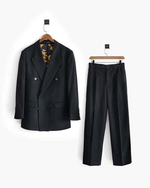 ROSEN Celliers Suit in Wool Twill