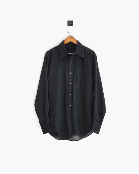ROSEN-S Long Sleeve Shirt - Textured Cotton