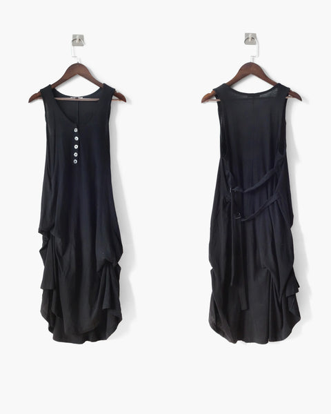 Ann Demeulemeester Asymmetrical Strap Dress Sz 34