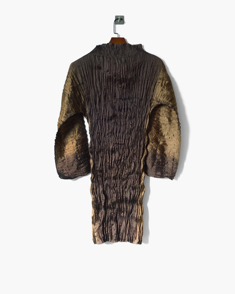 Issey Miyake Wrinkled Pleats Tunic Dress