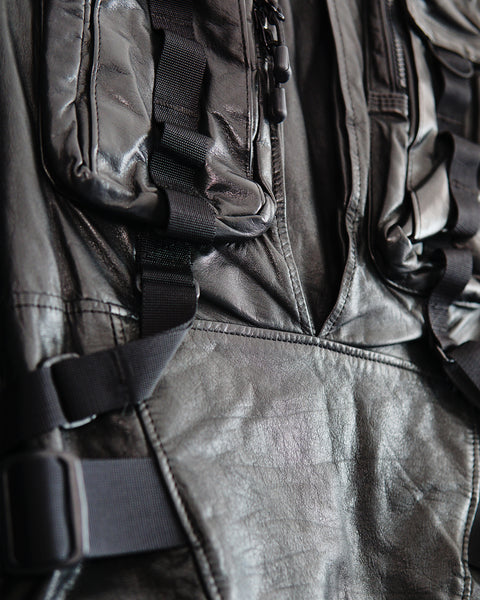 Undercover SS2016 Cargo Leather Jacket Sz 1